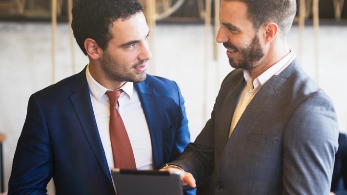 Geschätzte Einkäufer sind zufriedene EInkäufer