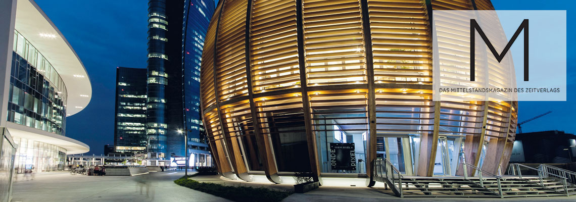 Pavillon der UniCredit-Bank Mailand