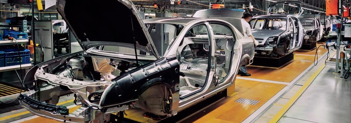 Stand der Automobilindustrie